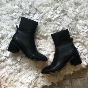 Jeffrey Campbell Jerem Leather Square Ankle Boot